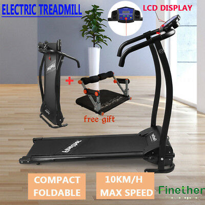 Treadmill Manual Incline Electric Motorised Folding Running Machine+Core Fitness