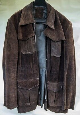 1970s Style Brown Suede Jacket (good condition) Size 44 or Large