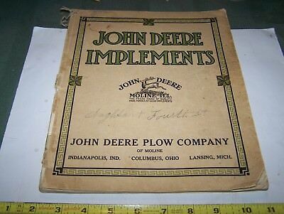 Rare Old JOHN DEERE Implements Full Line Farm Catalog 19teens Plow Planter WOW