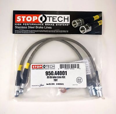 Stoptech Stainless Steel Braided FRONT Brake Lines Kit 98-05 GS300 GS400 GS430