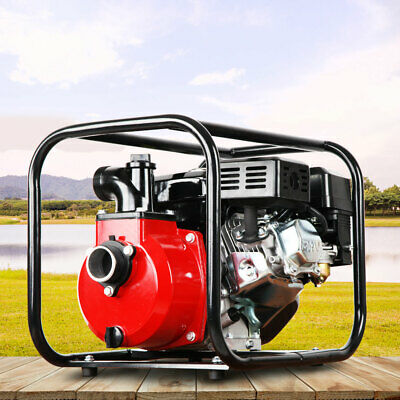 "2"" High Flow Petrol Water Pump Irrigation Farming Fire Fighter 4 Stroke Engine"