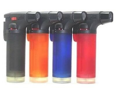 2pack  Butane Torch Lighter Gun Windproof Adjustable Jet Flame Refillable Jumbo