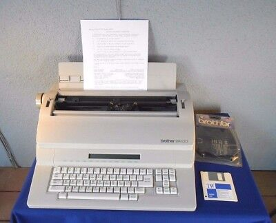 Brother EM-630 Word Processor Electronic Typewriter w/ Disk Drive TESTED EUC