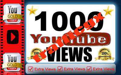 1000+ High Quality Youtube Vie-ws  100% safe instant start no drop lifetime