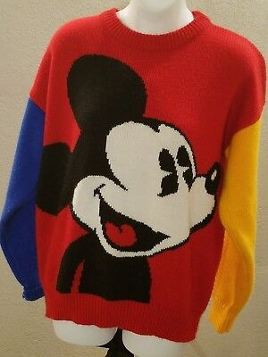 Vintage 70's  80's Large Disney Mickey Mouse Retro Sweater by Mickey & Co.
