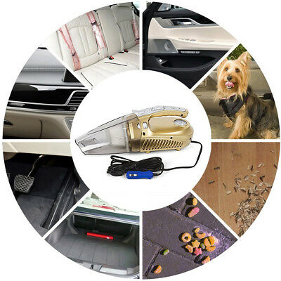 12V 100W Vacuum Cleaner For Home Car Dust Vac Bagless Handheld 4000pa Wet/Dry MK