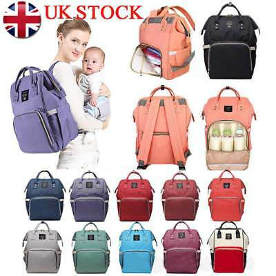 Yummy Mummy Maternity Nappy Diaper Changing Bag Travel Backpack LEQueen UK STOCK
