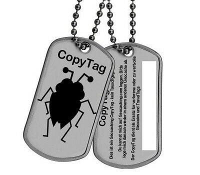 Geocaching CopyTag Copy Douple Geocoin verloren Ersatz trackable