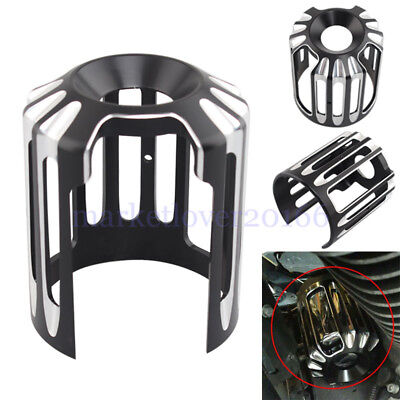 For Harley Breakout FXSB Dyna FXD Black CNC Deep Cut Oil Filter Cover Cap Trim