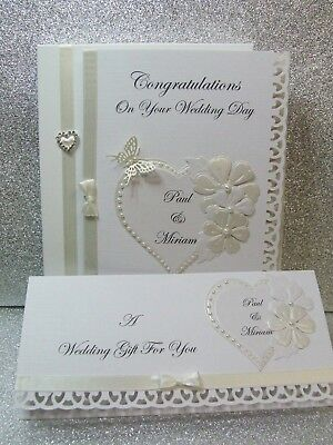 Personalised Wedding Day Card and/or Gift Voucher Wallet