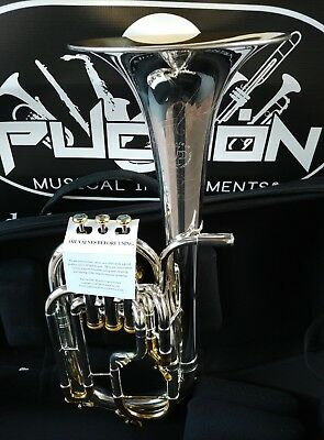 New Edition:John Packer 272 Gold & Silver Engraved Alto Horn- Professional