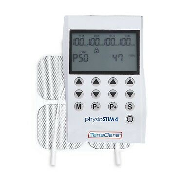 TensCare PhysioSTIM4 - 4 CHANNEL UNIT Advanced TENS, EMS and Massage programmes