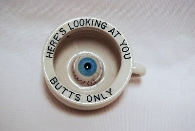 Rare Vintage Porcelain Minature Chamber Pot Eye Heres Looking at you Butts only