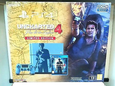 CONSOLE PLAYSTATION 4 Ps4 1TB UNCHARTED 4 LIMITED EDITION NUOVA NEW SEALED