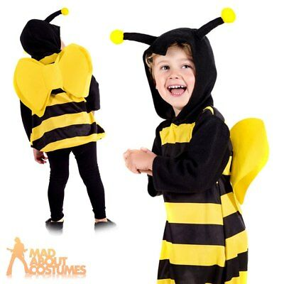 Toddler Bumble Bee Costume Girls Insect Book Week Day Fancy Dress