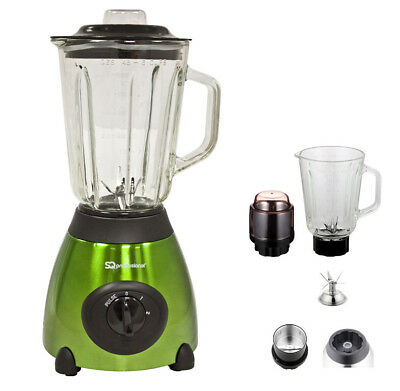 Electric Multi Food Blender Grinder Smoothie Maker Heavy Duty 500W Mixer Green