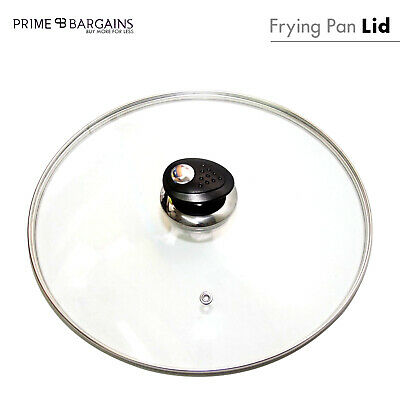 Replacement Vented Saucepan Wok Frying Fry Pan Glass Lid Cover Casserole Spare