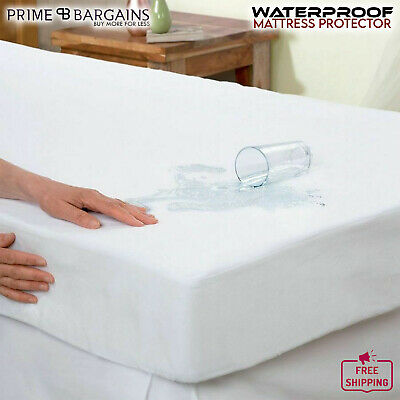 Terry Towel Waterproof Mattress Protector Fitted Sheet Washable Cover All Sizes