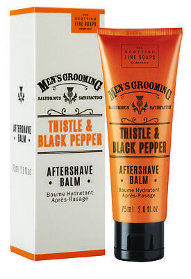 Scottish Fine Soaps Men's Grooming Thistle & Black Pepper Aftershave Balm 75ml