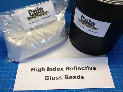Reflective High Index Glass Bead and White Acrylic Paint Gallon Combo