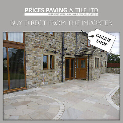Natural Indian Sandstone Patio Paving Slabs Sample Packs. Try before you buy!