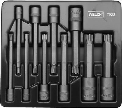 Welzh  110MM Long Impact - RIBE BIT Socket Set -10 Pcs PRO QUALITY WW 7033