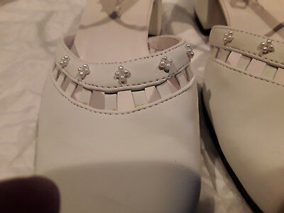 Wedding Shoes White with Tiny Pearls - Size 8 Worn Once