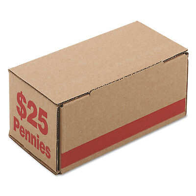 Pm Company Corrugated Cardboard Coin Storage w/Denomination Printed On Side Red