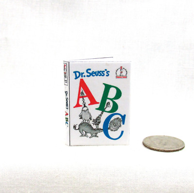DR. SEUSS'S ABCS 1:6 Scale Book Readable Illustrated Miniature Book Dr. Seuss