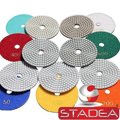 Diamond Polishing Pads 4 inch Wet/Dry 25 Piece SET Granite Marble Concrete Stone