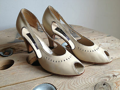 Vintage Shoes Marzocca Scarpe Donna Pelle Color Avorio Numero 37 Made In Italy
