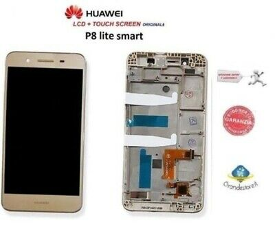 Lcd Display Huawei P8 Lite Smart Vetro Touch Screen Gold Frame Originale Tag-L01