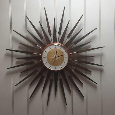 Royale Mid Century Seth Thomas Style Starburst Clock Hand Made in the UK BO3