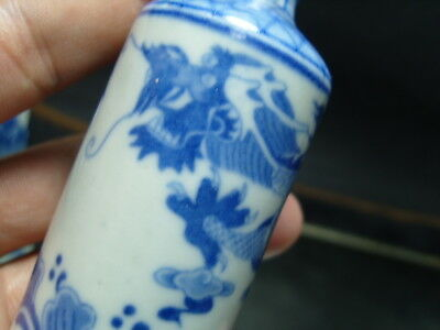 China Handwork Painting Blue And White Porcelain Snuff Bottles     4
