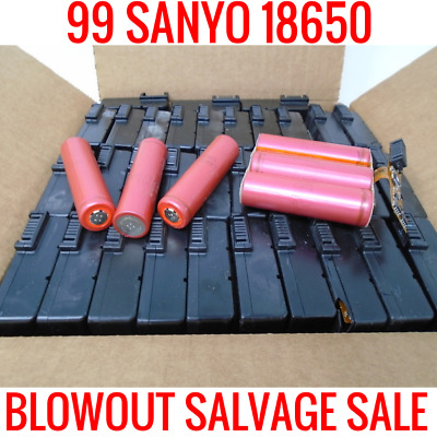99 Sanyo 18650 2200Mah Ur18650F Lithium Ion Batteries Powerwall Ebike Diy Cells