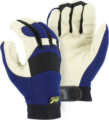 Majestic 2152T Bald Eagle Thinsulate Lined Pigskin Mechanics Gloves SMALL  NWT