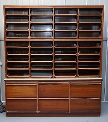 1 Of 3 Vintage Haberdashery Cabinets Storage Units With Drawers Over 25 Feet