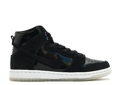 hot sale online f8ebd 4ff9a Nike SB ZOOM DUNK HIGH PRO Black White Clear