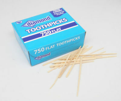 Diamond Brand Flat Wood Toothpicks Bar Supplies Wooden Oral Care Party Supply