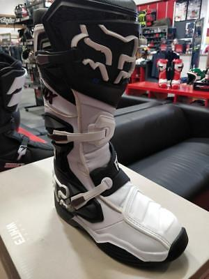 FOX Racing Comp 8 Motocross Boots Solid Black/White - PRE-SEASON CLEAROUT!
