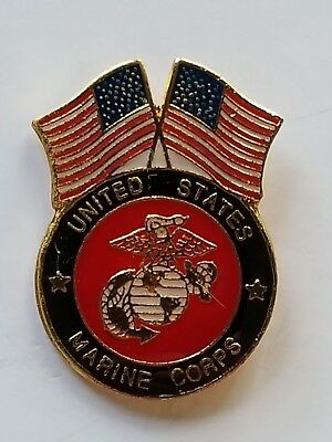 USA Flag United States Marine Corps Lapel Hat Cap Pin Tie Tac FAST USA SHIPPING