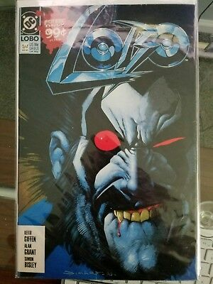 Lobo #1 & 2 -1990 great condition. Keith Giffen, Alan Grant and Simon Bisley