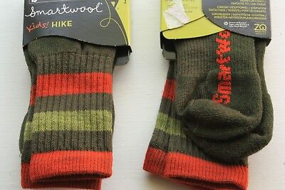 NWT Smartwool Kids Boy's or Girl's LODEN Hike Crew Socks SMALL  9-11.5 NEW