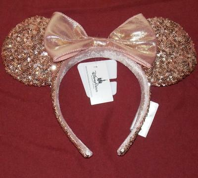 Disney Parks Rose Gold Minnie Mouse Ears Headband New With Tags Free US Shipping