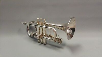Besson 926GS Sovereign Soprano Eb Cornet Silver Plated with Hard Case