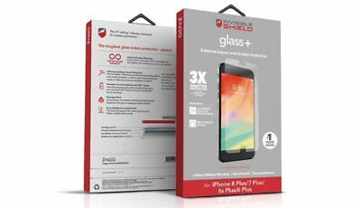 Sealed New Inbox Oem Zagg Glass+ Screen Protection For Apple Iphone 8 Plus 7+ 6+