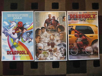 "DEADPOOL 2  (11"" x 17"") Movie Collector's Poster Prints (Set of 3)"