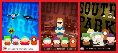South Park Triple Pack Season 18, 19 and 20 DVD Box Set Brand New Sealed