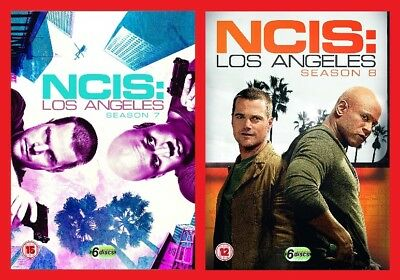 NCIS Los Angeles Double Pack Season 7 and 8 DVD Brand New Sealed