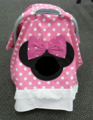 MINNIE MOUSE PERSONALIZED infant - Hand Made - CAR SEAT CANOPY ...